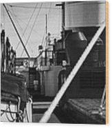 Ship Detail Wood Print