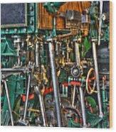 Ship Engine Wood Print