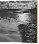 Ship Harbor Winter Wood Print