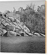 Ship Rock Island Wood Print