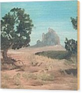 Ship Rock New Mexico Wood Print
