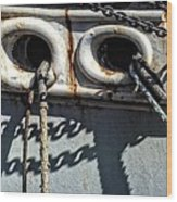Ship Ropes Chains Wood Print