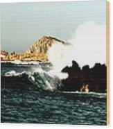 Ship Wreck At Land's End Wood Print