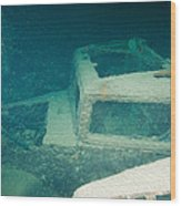 Ship Wreck With Trucks Wood Print