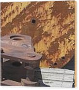 Ship Yard Rust 5 Wood Print