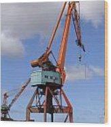 Shipping Industry Crane 06 Wood Print