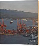 Shipping Terminals Port Of Vancouver Wood Print