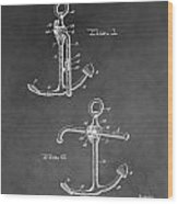 Ship's Anchor Patent Wood Print