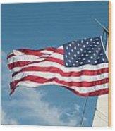 Ship's Flag Wood Print