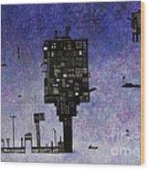 Ships In The Night IIi Wood Print