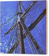 Ships Rigging - 2 Wood Print