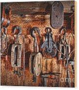 Ship's Rigging Wood Print by Lee Dos Santos