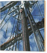 Ships Rigging Wood Print