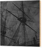 Ships Silhouette Wood Print