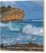 Shipwreck Beach Shorebreaks 1 Wood Print