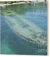 Shipwreck In Big Tub Harbour Wood Print
