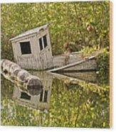 Shipwreck Silver Springs Florida Wood Print