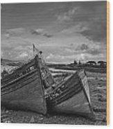 Shipwrecked Wood Print