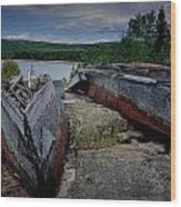 Shipwrecks At Neys Provincial Park No.3 Wood Print