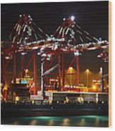 Shipyards  Callao Port Lima Peru Wood Print