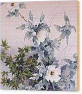 Shirasagi Wood Print