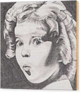 Shirley Temple Wood Print by Beverly Marshall