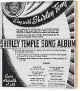 Shirley Temple Song Album Wood Print
