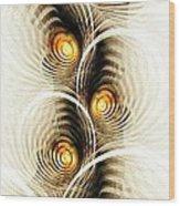 Shock Waves Wood Print