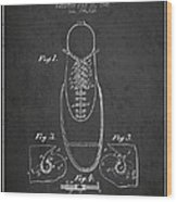 Shoe Eyelet Patent From 1905 - Charcoal Wood Print