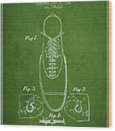 Shoe Eyelet Patent From 1905 - Green Wood Print