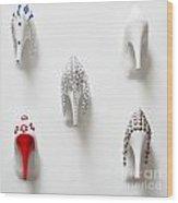 Shoe Fashion Wood Print