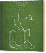 Shoes And Boots Crimping Board Patent From 1881 - Green Wood Print