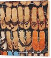 Shoes Shoes Everywhere Playa Del Carmen Mexico Wood Print