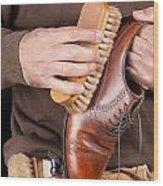 Shoeshiner Wood Print