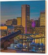 Shooting Purple In Baltimore Wood Print