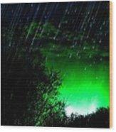 Shooting Stars Wood Print