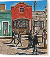 Shootout At The Ok Corral In Tombstone-arizona Wood Print