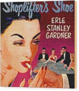 Shoplifter's Shoe. Vintage Pulp Fiction Paperback Wood Print