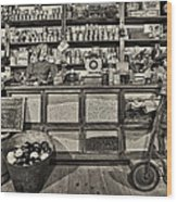 Shopping At The General Store Wood Print by Priscilla Burgers