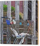Shopping Cart Wood Print