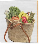 Shopping For Orrganic Fruit And Vegetables  Wood Print