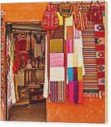 Shopping In San Miguel De Allende Wood Print