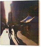 Shopping Stands Along Market Street At San Francisco's Embarcadero - 5d20841 V3 Wood Print