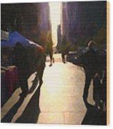 Shopping Stands Along Market Street At San Francisco's Embarcadero - 5d20842 Wood Print