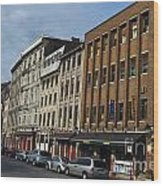 Shops And Buildings Along Rue Saint-paul Old Montreal Wood Print