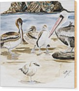 Shore Birds Wood Print