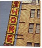 Shore Building Sign - Coney Island Wood Print