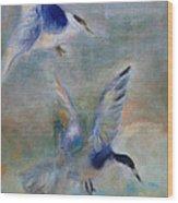 Shorebirds Wood Print by Susan Hanlon