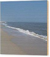 Shoreline At Cape May Wood Print