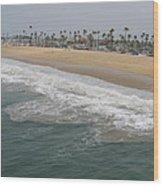Shoreline Newport Beach Wood Print